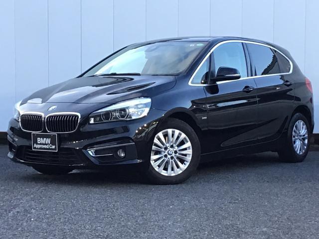 BMW 218dアクティブツアラー ラグジュアリー ベージュレザー シートヒーター 電動シート ドライブアシスト アイドリングストップ 16インチAW 純正HDDナビゲーション Blue Tooth ミュージックサーバー ETC車載器 禁煙車