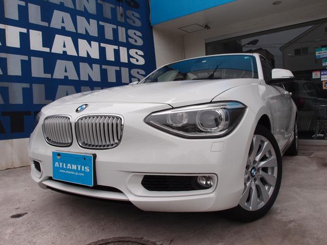BMW 120i スタイル ナビ リアカメラ スマートキー 電動シート ETC キセノン バンパーセンサー アイドリングストップ 純正AW