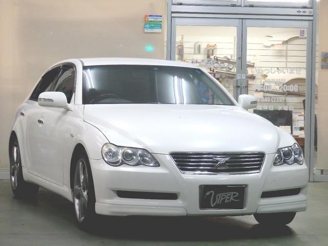 トヨタ マークX 250G Sパッケージ レザーシート ナビ ETC エアロ