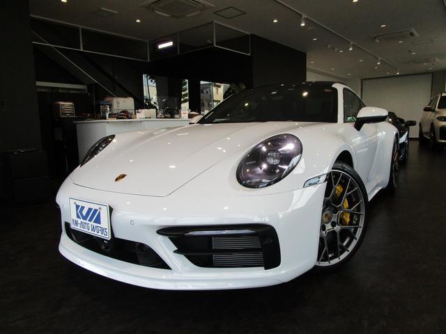 ポルシェ 911 911カレラ4S スポーツデザインP スポーツクロノP マットカーボンインテリアP PCCB PDCC レザーSport-Texブラックシート LEDマトリックスヘッドライト スライド/チルトサンルーフ ACC