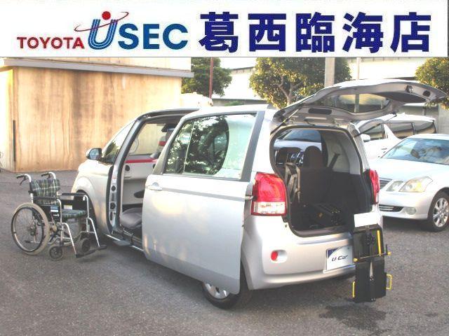 トヨタ X ウェルキャブ 助手席回転チルトシート Bタイプ 車いす収納装置 左側パワースライドドア トヨタセーフティセンスC アイドリングストップ フットレスト キーレス 消費税非課税車 福祉車両