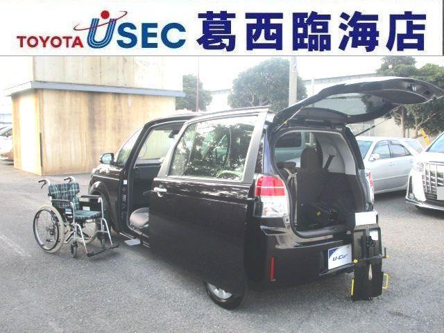 トヨタ X ウェルキャブ 助手席回転チルトシート Bタイプ 車いす収納装置 左側パワースライドドア トヨタセーフティセンス アイドリングストップ スマートキー フットレスト 消費税非課税車 福祉車両