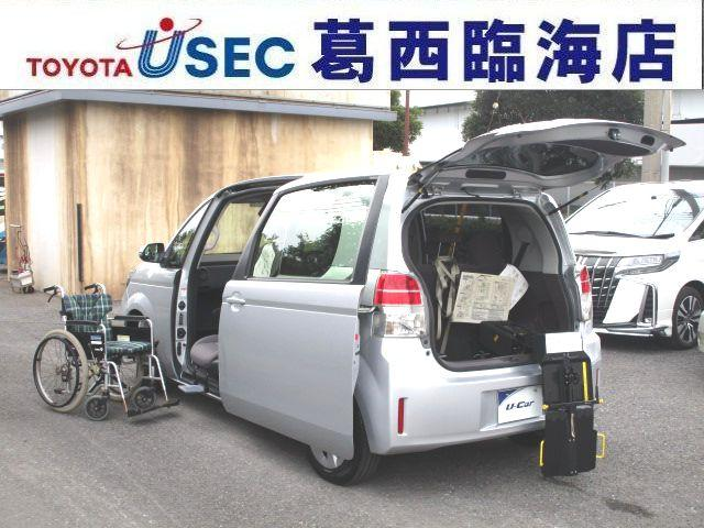 トヨタ X ウェルキャブ 助手席回転チルトシート Bタイプ 車いす収納装置 左側パワースライドドア トヨタセーフティセンスC アイドリングストップ フットレスト キーレス 専用車いす付 消費税非課税車 福祉車両