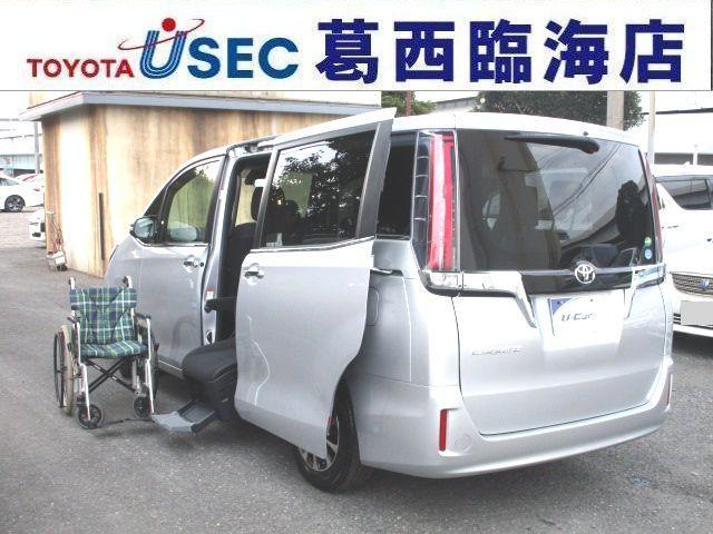 トヨタ Xi ウェルキャブ サイドリフトアップシート キーレス LEDライト 左側パワードア 5ナンバー TSSC 車いす固定ベルト アイドリングストップ リアエアコン クルコン 消費税非課税車 福祉車両
