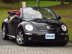 VW ニュービートルカブリオレヴィンテージ 限定車 赤革 HDDナビTV Bカメラ HID