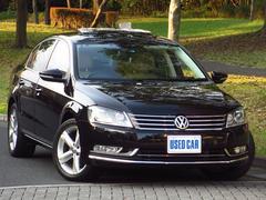 VW パサートTSIハイラインBMT 禁煙 ベージュ革 SR ナビ Bカメ