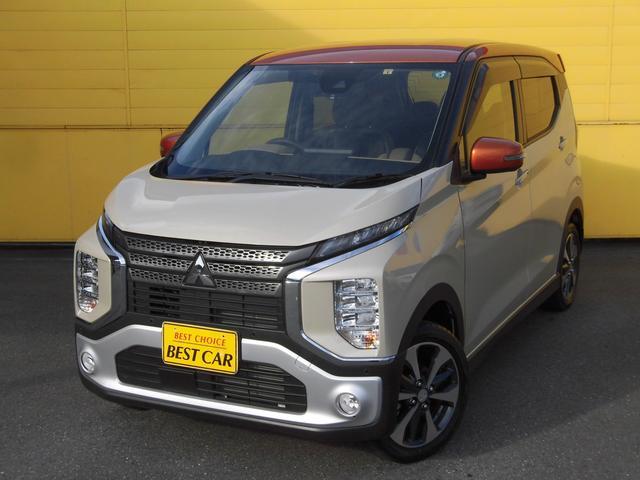 三菱 eKクロス T 4WD ハーフレザーシート メモリーナビTV アラウンドビューモニター