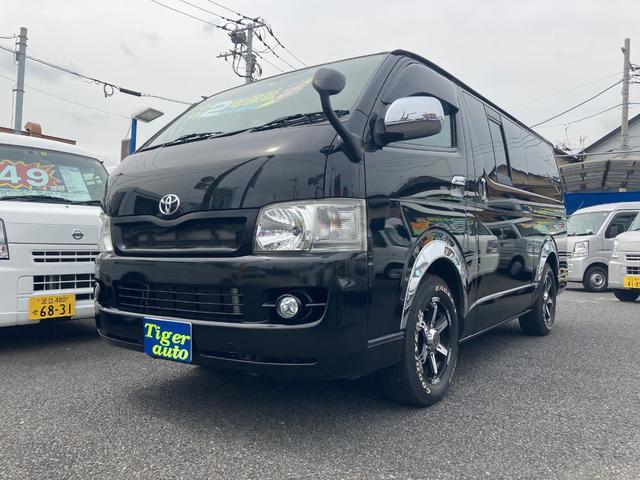 トヨタ ハイエースバン ロングスーパーGL ナビTVバックカメラ 社外テール