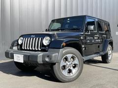ジープ・ラングラーアンリミテッドサハラ 認定中古車保証 弊社ユーザーワンオーナー ETC USナンバー ブラックフューエルドア