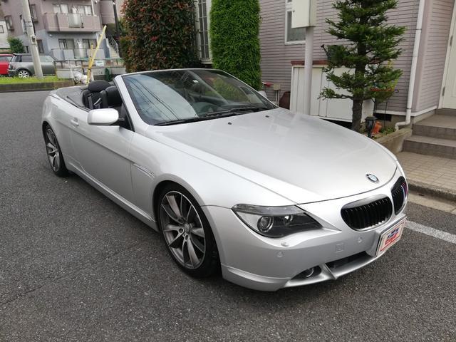 BMW 645Ciカブリオレ純正ナビETCアルミバックモニター