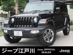 ジープ・ラングラーアンリミテッドサハラ 1オーナー 黒レザーシート 純NAVI Jeep認定中古車