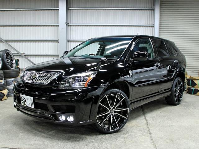 トヨタ 350GプレミアムLパケ後期 黒革 新品フルエアロ新品アルミ