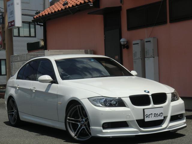 BMW 3シリーズ 335i Mスポーツパッケージ 3Lツインターボ・黒革シート・HDDナビ・Pシート・シートヒーター・パドルシフト・クルーズコントロール・コンフォートアクセス・19AW・ブラックキドニーグリル・社外リップ&社外リアスポイラー・禁煙車