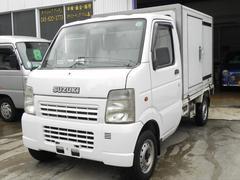 キャリイトラック冷蔵冷凍車 −5度設定 サイド扉付 エアコン パワステ