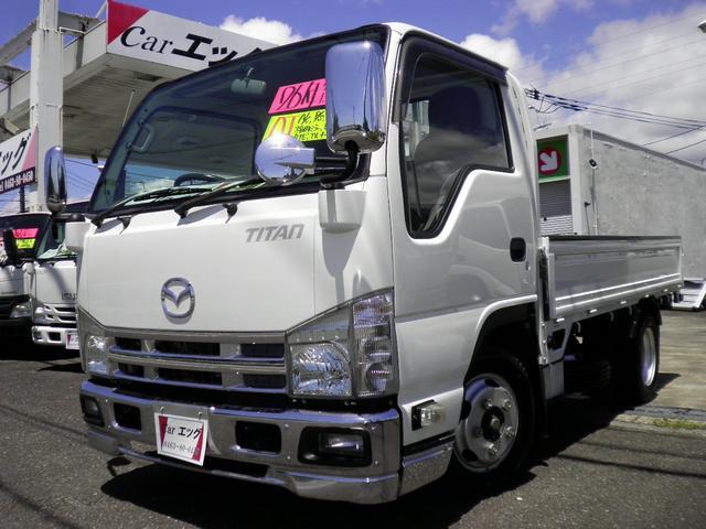 マツダ タイタントラック フルワイドロー メッキ仕様 1.5トン積載 オートマ車 格納ミラー ETC ナビTV 10尺木製荷台4ナンバー