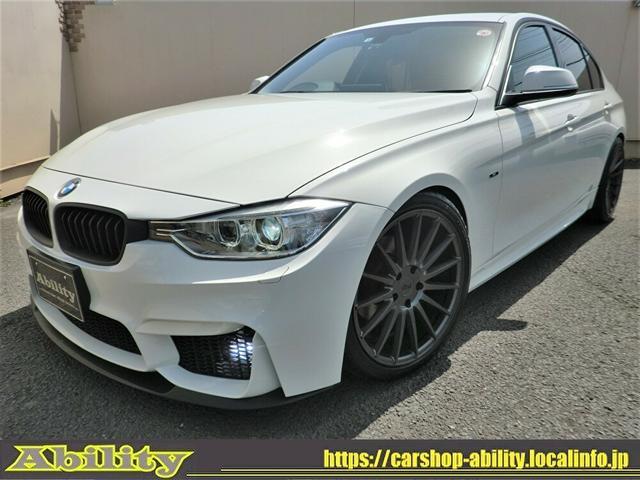BMW 320i スポーツ M3スタイルエアロKIT NICHE19インチAW MARVIN4本出しマフラー LDサス トランクスポイラー HIDライト LEDフォグ コンフォートアクセス HDDナビBカメラ ドラレコ ETC