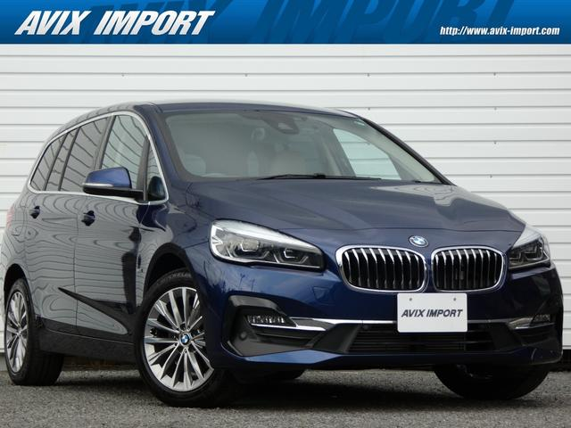 BMW 218dグランツアラー ラグジュアリー 後期 コンフォート PKG ドライビングアシスト ベージュ革 ナビTV バックカメラ パークディスタンスコントロール シートヒーター コンフォートアクセス オートテールゲート LEDライト 17インチAW 禁煙 7人