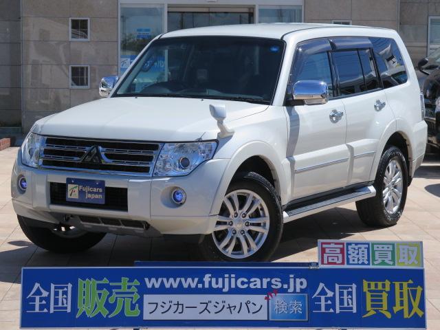 三菱 ロング スーパーエクシード メーカーHDDナビ 黒革シート