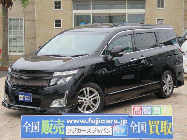 日産 VIP メーカーHDDナビ 黒革シート WSR 新品タイヤ