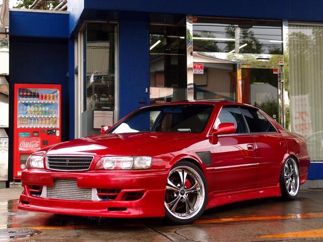 トヨタ ツアラーV HDDナビ サンルーフ 車高調19AW 純正5速