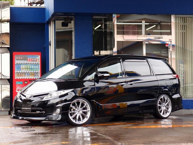 トヨタ 2.4アエラス G HDD地デジナビ両側電動 車高調20AW