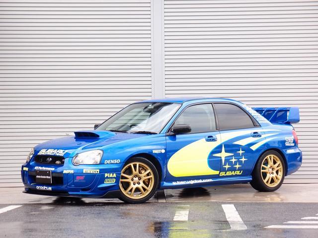 スバル WRX STi カロッツエリアオーディオ Bluetooth HIDライト ETC BLITZ車高調 STIエアロ フロントリップ スプリンターウイング WRCラリーデカール外装 マフラー タイミングベルト交換済