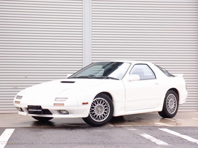 マツダ GT-R 最終後期型 外装ホワイト塗装 純正オーディオ 純正16AW 純正リアウイング BLTZ水温計 純正インタークーラー 社外ステアリング BILLION製VFCII電動ファンコントローラー