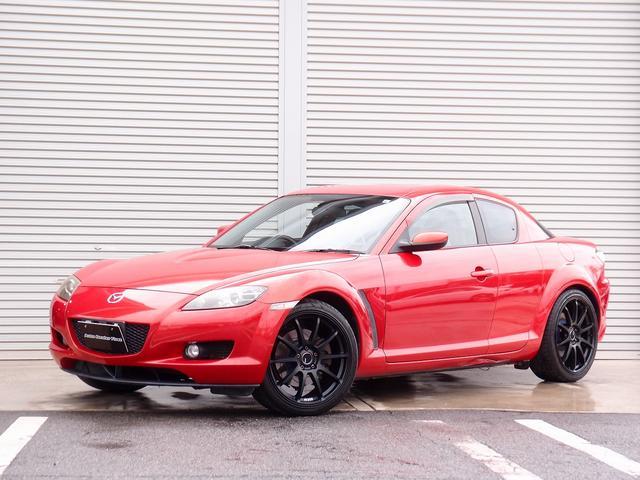 マツダ RX-8 タイプS 新車オプション赤X黒レザーシート SSR GTV02 19AW ETC HIDライト 前後大型スリットローター LEDテール ケンウッドサブウーハー AutoExeワイパー 寒冷地仕様 パワーシート