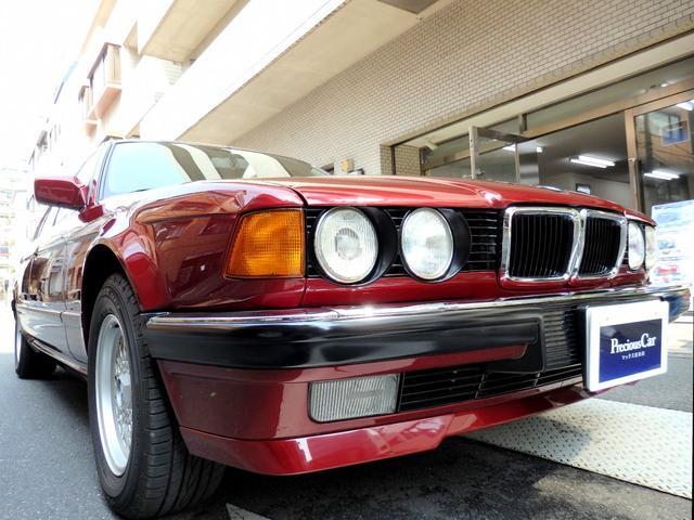 BMW 7シリーズ 730i E32型 730iA 3リットルV型8気筒DOHC32バルブ 左H 5AT カリプソレッドメタリック(252) 純正15インチAW ABS 純正フルノーマル ビルトインガレージ保管禁煙車