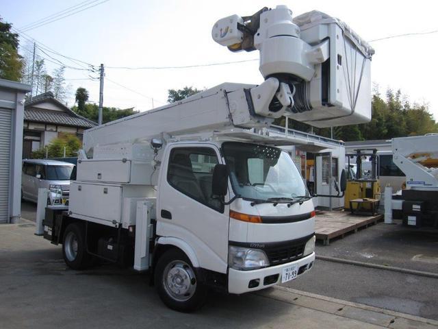 トヨタ ダイナトラック  高所作業車 愛知車両製SH15B 電工仕様 バッテリー兼用タイプ