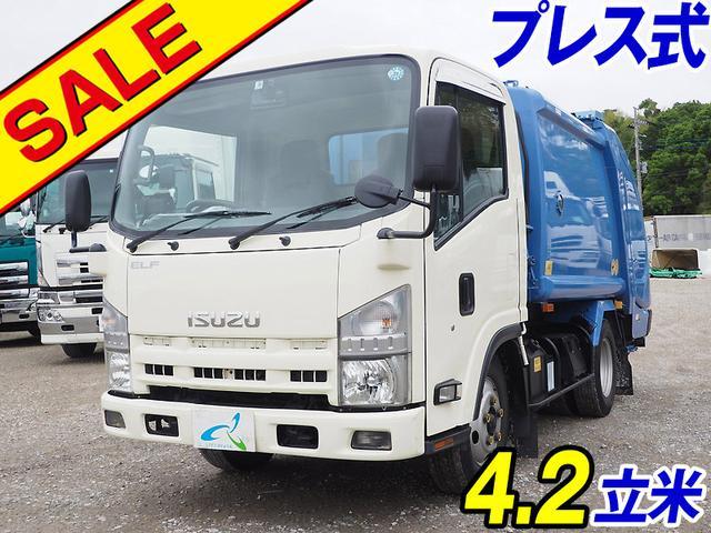 いすゞ エルフトラック 新明和製プレス式 4.2立米 6速マニュアル 積載2トン