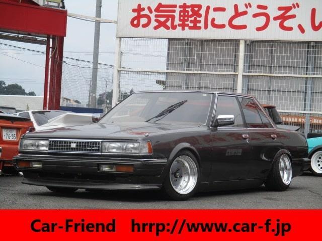 トヨタ クレスタ スーパールーセント ツインカム24 フロントスポイラー リアスポイラー 車高調 マークI14AW 社外マフラー