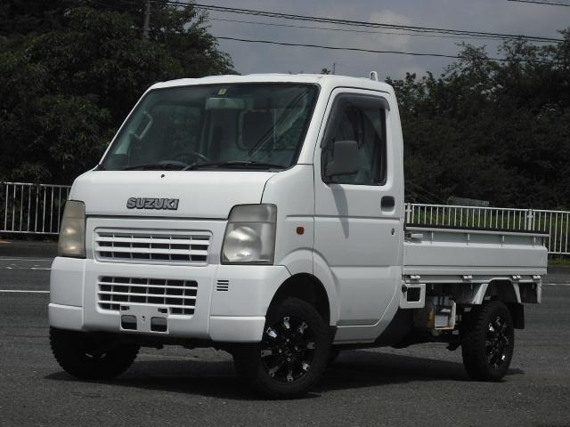 スズキ キャリイトラック KCエアコン・パワステ 4WD パワステ エアコン 3方開