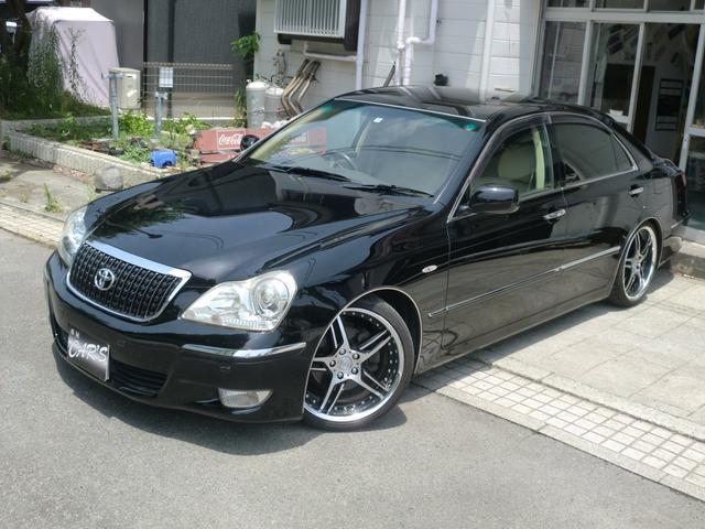 トヨタ Cタイプ色替黒 ベージュ革 19インチ エアサス HDD