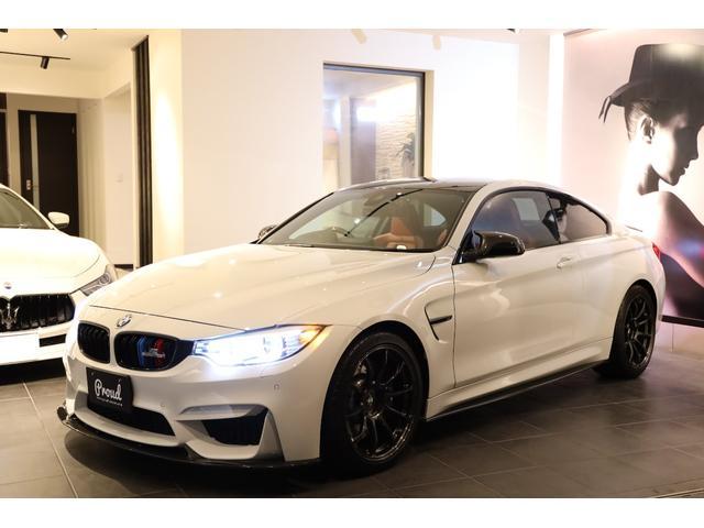 BMW M4 M4クーペ ボルクレーシング19AW パワークラフトマフラー Mパフォーマンス Mドライブ 全正規ディーラー点検記録簿 カーボンルーフ ユーザー買取車 スペアキー