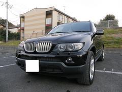 BMW X54.4i 4WD ポータブルナビ 黒本革シート 電動シート