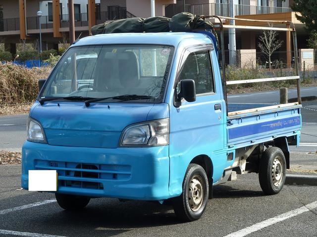 ダイハツ ハイゼットトラック エアコン・パワステ スペシャル 手作り木製アオリ
