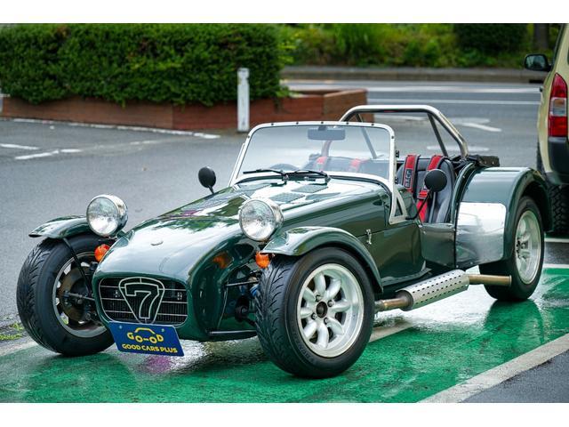 ケータハム ベースグレード SEVEN CARS LTD生産車 スミスクロノメーター フロント4ポッドキャリパー ドライサンプ ウエーバーキャブ フォードデフ LSD PCD108 プッシュスタート