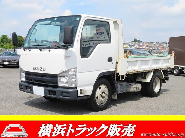 いすゞ エルフトラック 強化ダンプ 積載2t コボレーン付きダンプ ABS 3方開 MTモード付AT