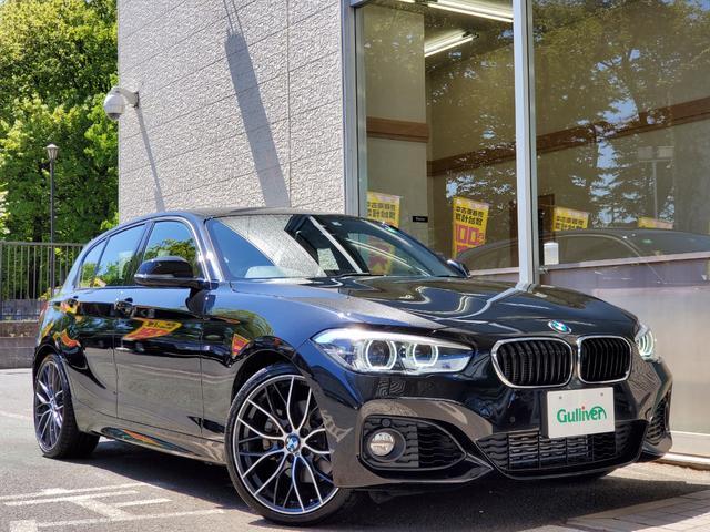 BMW 118i Mスポーツ 衝突軽減 OP19アルミ レザーシート 走行12千キロ LEDライト インテリジェントセーフティ オプション19インチアルミ 黒レザーシート シートヒーター LEDライト レーンキープ 純正ナビ 360°カメラ