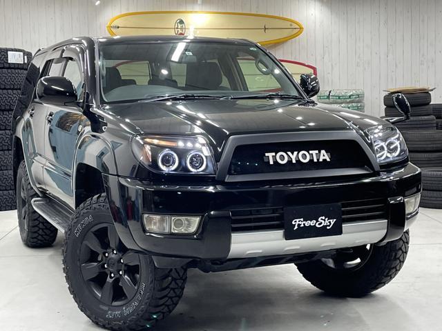 トヨタ ハイラックスサーフ SSR-X リフトアップ 新品オリジナルTOYOTAグリル 新品シートカバー 新品イカリングヘッドライト 新品LEDテール 新品MTタイヤ マットブラック17インチAW