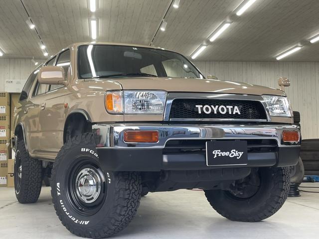 トヨタ ハイラックスサーフ SSR-G サンルーフ ナローボディ リフトアップ 新品MTタイヤ 新品AW
