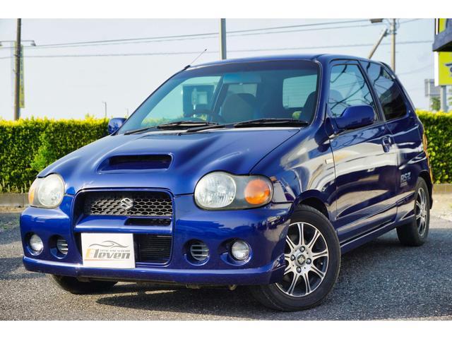 スズキ RS/Z ツインカムターボ インタークーラー 社外アルミ 社外ステアリング ターボタイマー CDデッキ 同色全塗装済み