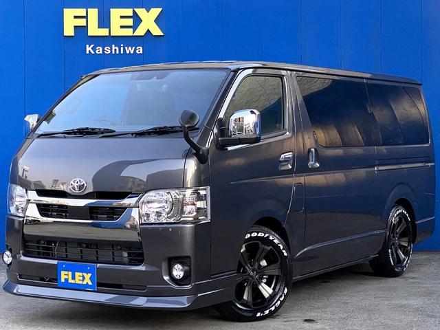 トヨタ スーパーGL ダークプライムII FLEXカスタムパーツ多数取付 両側パワースライドドア カスタムナビパッケージ
