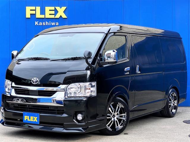 トヨタ GL FLEXオリジナルシートアレンジVer1 トリプルナビパッケージ ローダウン フロントスポイラー 18インチアルミ LEDテール フルセグナビ サブモニター フリップダウンモニター 専用ベットキット