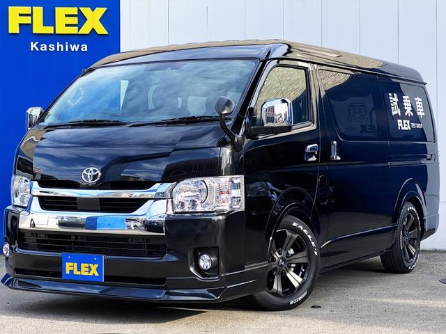 トヨタ GL FLEXオリジナルシートアレンジVer1 ツインナビ ライトカスタムパッケージ ローダウン フロントスポイラー 17インチアルミ フルセグナビ フリップダウンモニター シートアレンジ専用ベットキット