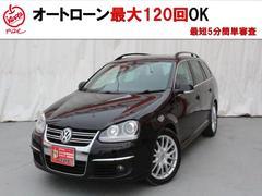 VW ゴルフヴァリアント2.0TSI スポーツライン 黒革 HDDナビ フルセグ