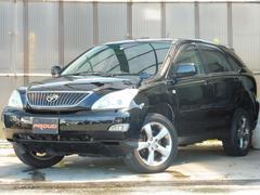 ハリアー300G プレミアムL 4WD DVDナビ黒革サンルーフ