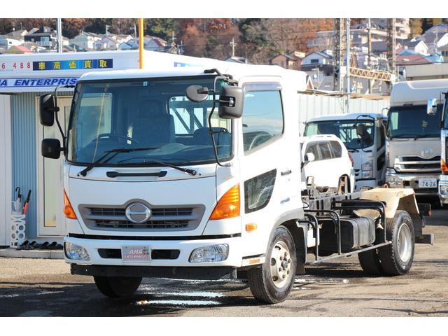 日野  積載 3950kg新明和アームロールツインホイストリモコンワンオーナー新車保証 点検記録簿付
