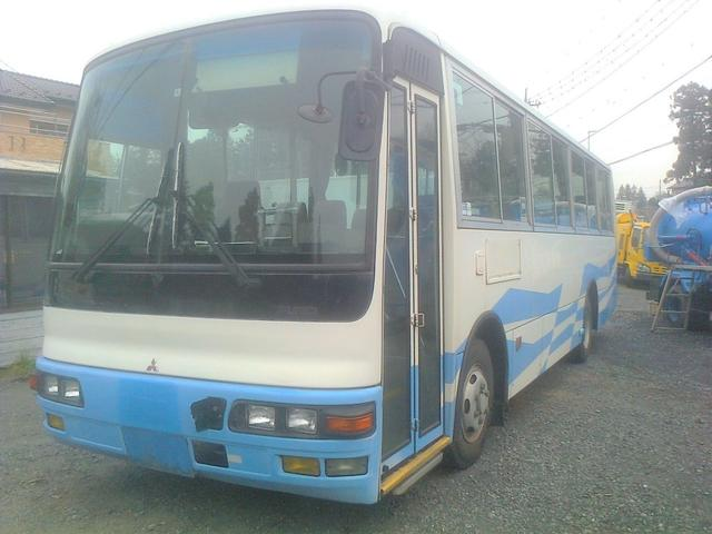 三菱ふそう エアロミディ 中型 送迎バス 56人乗り 元役所使用車
